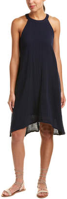 Three Dots Cut-Away High-Low Shift Dress
