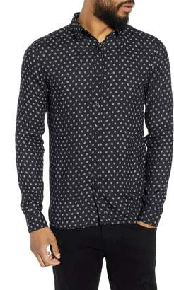 The Kooples Trim Fit Long Sleeve Sport Shirt
