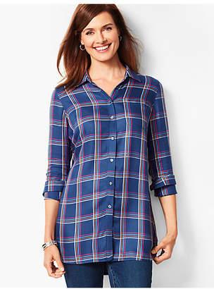 Talbots Buckingham Plaid Longer-Length Perfect Shirt