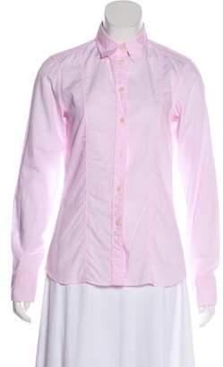 Calvin Klein Collection Long Sleeve Button-Up