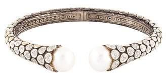 John Hardy Diamond & Pearl Dot Cuff