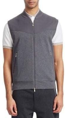 Brunello Cucinelli Heathered Full Zip Vest