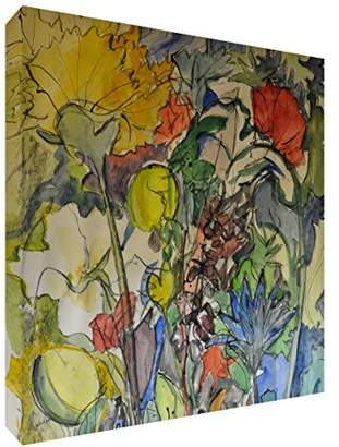 Camilla And Marc Feel Good Art Print Brightly Coloured Artist's from Val Johnson Floral Medley Large 51 x 51 cm H x 4 cm