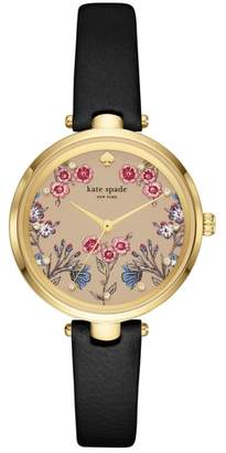 Kate Spade Holland Floral Leather Strap Watch, 34mm