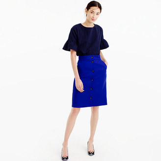 Button-front skirt in double-serge wool $128 thestylecure.com