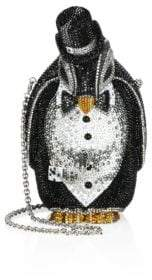 Judith Leiber Couture Alfred Crystal Penguin Minaudiere
