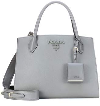 67633c88b9 ... discount code for free shipping at mytheresa prada monochrome leather  shoulder bag 8f10a f2745