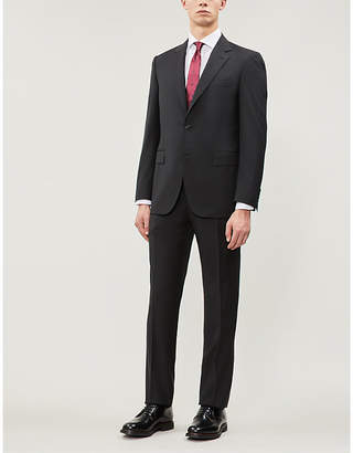 Canali Birdseye regular-fit wool suit