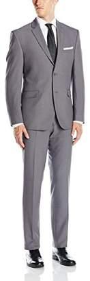 Perry Ellis Men's Two Button Slim Fit Suit