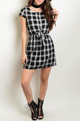 Interi Black Checkered Dress
