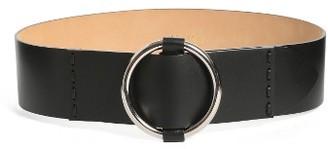 Max Mara Women's Curt Circle Buckle Leather Belt
