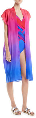 Gottex Radiance Belted Pareo Silk Woven Coverup