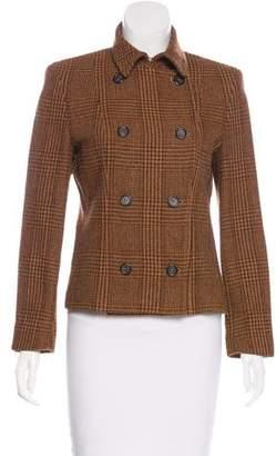 Max Mara Virgin Wool & Alpaca-Blend Plaid Blazer
