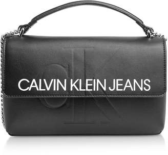 Calvin Klein Collection Sculpted Monogram Crossbody Bag w/ Signature Flap