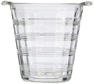 One Kings Lane Vintage 1950s Glass-Banded Ice Bucket