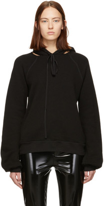 Unravel Black Cut-Out Hoodie