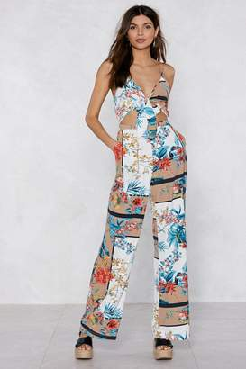 Nasty Gal Getting Off Tropic Tie Jumpsuit