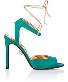 SAMUELE FAILLI Women's Julienne Satin Sandals-Green