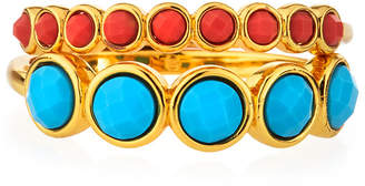 Gorjana Gypset Gemstone Rings, Set of 2, Size 8