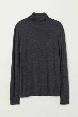 H&M Merino Wool Turtleneck Sweater - Black