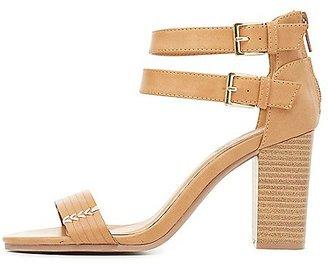 Topstitch Strappy Sandals $35.99 thestylecure.com