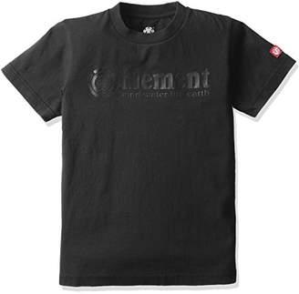 Element (エレメント) - (エレメント) ELEMENT 子供用 半袖 プリント Tシャツ (USAコットン採用) 【 AH025-200 / HORIZONTAL SS BOY 】 AH025-200 BLK BLK_ブラック 150