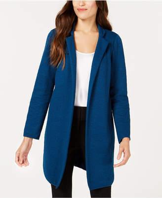 Alfani Jacquard Open-Front Jacket