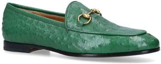 Gucci Textured Leather Jordaan Loafers