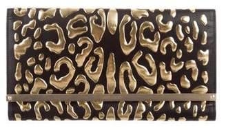 Jimmy Choo Leopard Leather Clutch