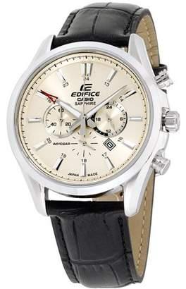 Casio Edifice Beige Dial Leather Strap Men's Watch EFB504JL-7A