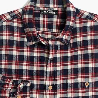 J.Crew Mercantile Tall slim-fit flannel shirt in plaid