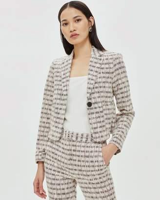 Topshop Cropped Jersey Jacket