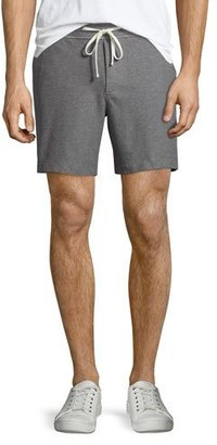 James Perse Heather Knit Twill Shorts, Gray $175 thestylecure.com