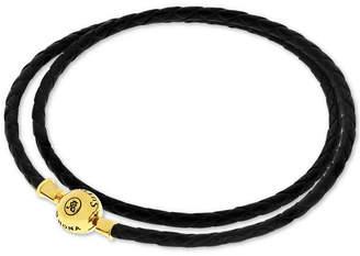 Sutton by Rhona Sutton Charm Holder Leather Wrap Bracelet