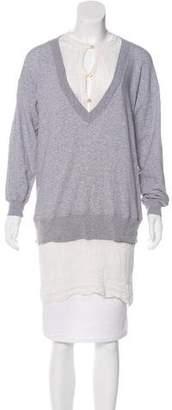 Jean Paul Gaultier Layered Longline Sweatshirt