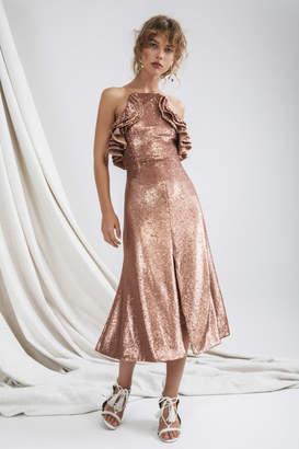 C/Meo COLLECTIVE ILLUMINATED DRESS copper