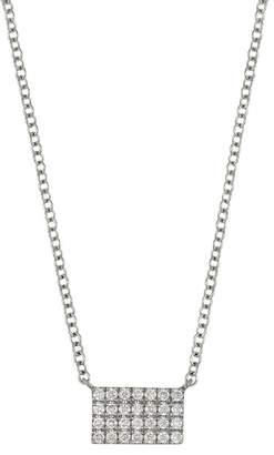Bony Levy 18K White Gold Diamond Bar Pendant Necklace - 0.12 ctw