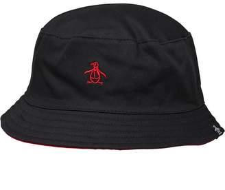 1c5ea7fb63af7 Original Penguin Mens Switch Bucket Hat Black Red