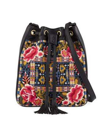 Johnny Was Axton Embroidered Crossbody Bag