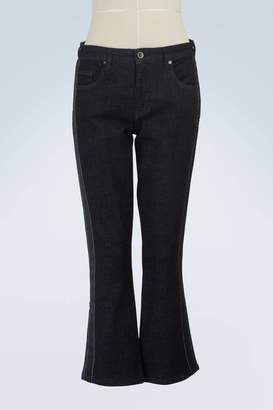 Victoria Beckham Victoria Cropped flared jeans with side stripes