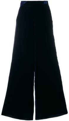 Aviu wide-leg textured trousers