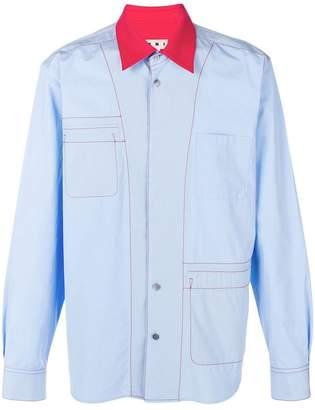 Marni contrast collar shirt
