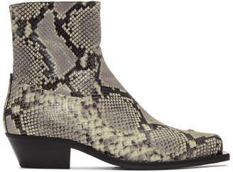 Misbhv Grey and Black Iggy Cowboy Boots