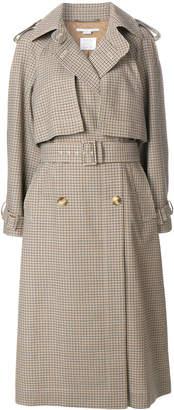 Stella McCartney Estrella check trench coat