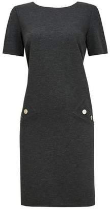 Wallis Grey Short Sleeve Shift Dress