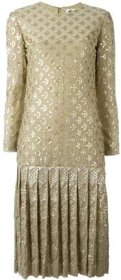 Christian Dior Pre-Owned sequinned drop hem dress