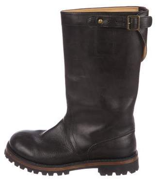 Ann Demeulemeester Leather Mid-Calf Boots