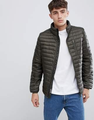 Esprit Ultralight Thinsulate Puffer Jacket In Khaki