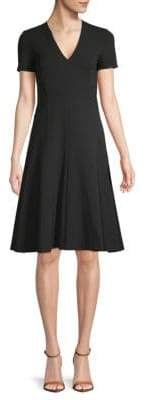 Derek Lam Short-Sleeve A-Line Dress