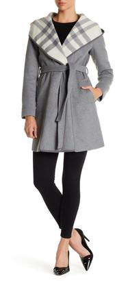 DKNY Plaid Shawl Collar Coat $360 thestylecure.com